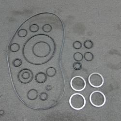 Металлические и резиновые кольца,уплотнения